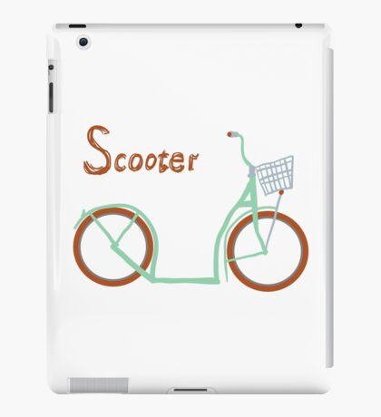 Illustration of vintage vector scooter iPad Case/Skin