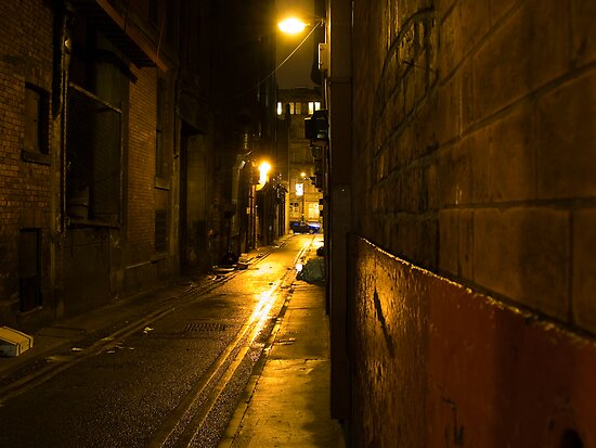 Gloomy Dark Alleyway at Night by Rob Davies