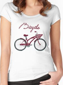 illustration of  vintage bicycle Women's Fitted Scoop T-Shirt