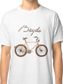 illustration of  vintage bicycle Classic T-Shirt