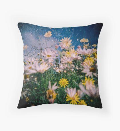 Daisy Frenzy Throw Pillow
