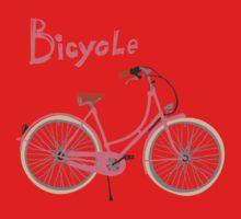 Vintage bicycle One Piece - Short Sleeve