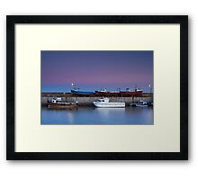 Seahouses Stack Framed Print