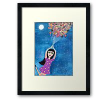 Missy and the Moon Balloons Framed Print