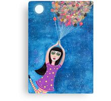 Missy and the Moon Balloons Canvas Print