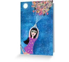 Missy and the Moon Balloons Greeting Card