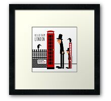 Red Booth Framed Print