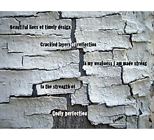 Crackled Perfection Photographic Print