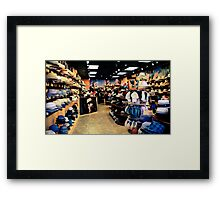 Hat store, New Orleans Framed Print