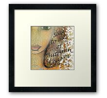 Sing to me of Autumn Leaves Framed Print