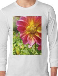Single Flower in Garden Long Sleeve T-Shirt