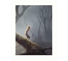 Lost With Fireflies Art Print