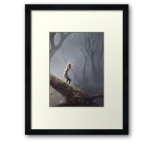 Lost With Fireflies Framed Print
