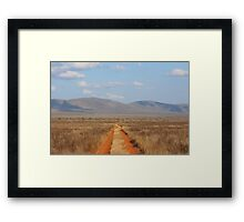Road to no where in Kenya Framed Print