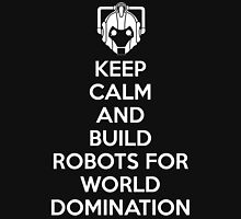 Keep Clam And Build Machines For World Domination Womens Fitted T-Shirt