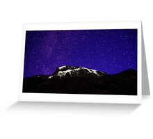 Starry Kilimanjaro Greeting Card