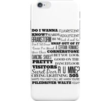 Arctic Monkeys Songs Compilation iPhone Case/Skin