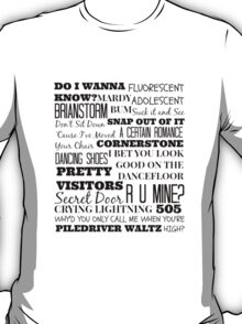 Arctic Monkeys Songs Compilation T-Shirt