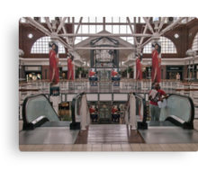 Advertising in the mall Canvas Print