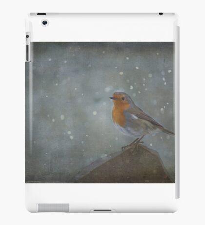 Mr Robins Snowstorm - Textured iPad Case/Skin