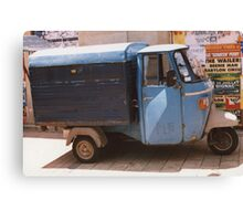 French 3-wheeled Van Canvas Print