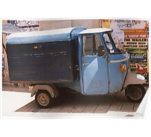 French 3-wheeled Van Poster