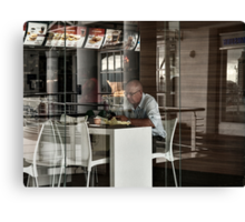 Fast food and a tweet Canvas Print