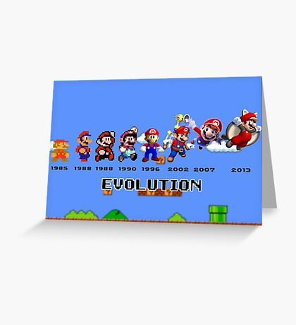 The Evolution of Mario Greeting Card