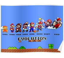 The Evolution of Mario Poster