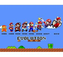 The Evolution of Mario Photographic Print