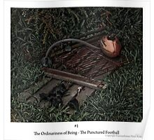 The punctured Football Poster