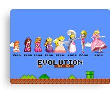 The Evolution of Princess Peach Canvas Print