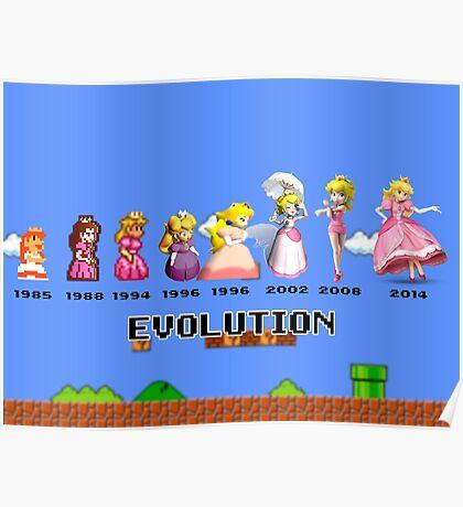 The Evolution of Princess Peach Poster