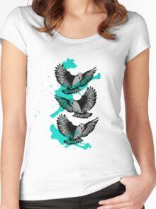 Make Peace Never War Women's Fitted Scoop T-Shirt