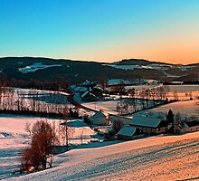 Winter wonderland afternoon panorama | landscape photography by Patrick Jobst
