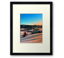 Winter wonderland afternoon panorama | landscape photography Framed Print