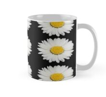 Nine Common Daisies Isolated on A Black Backgound Mug