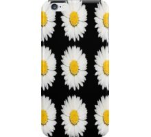 Nine Common Daisies Isolated on A Black Backgound iPhone Case/Skin