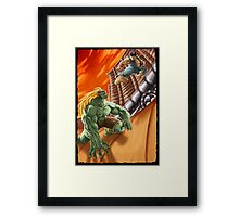 EPIC BATTLE! Framed Print