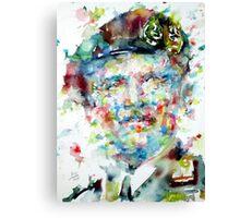 BERNARD MONTGOMERY - watercolor portrait Canvas Print