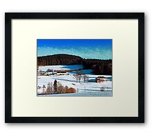 Winter wonderland scenery on a sunny afternoon | landscape photography Framed Print