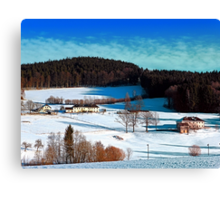 Winter wonderland scenery on a sunny afternoon | landscape photography Canvas Print