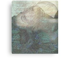 while i was talking to the flowers Canvas Print