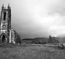 Dunlewey church black and white by John Quinn