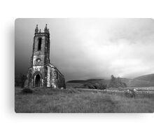 Dunlewey church black and white Metal Print