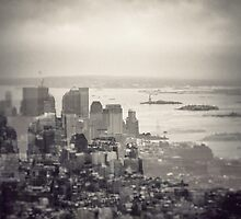 Toned New York Skyline - Double exposition by jaysanstudio