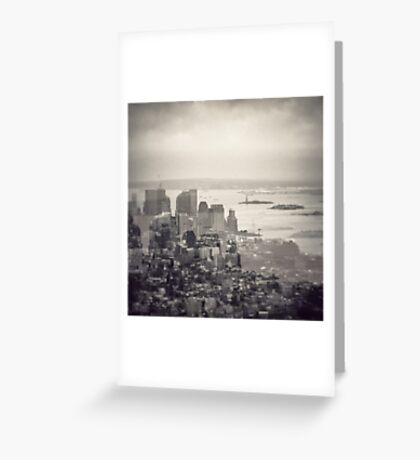 Toned New York Skyline - Double exposition Greeting Card