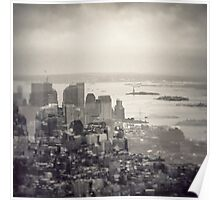 Toned New York Skyline - Double exposition Poster