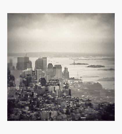 Toned New York Skyline - Double exposition Photographic Print