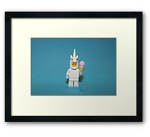 Cute Little Unicorn Framed Print